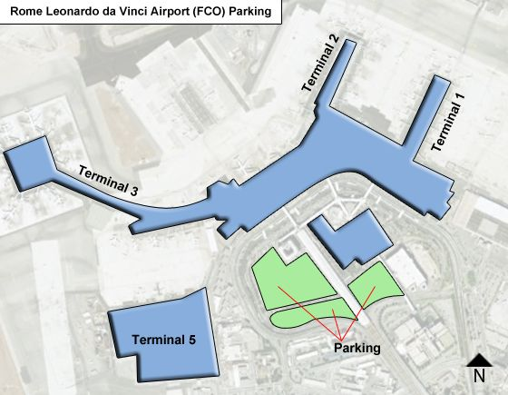 Rome-Leonardo-da-Vinci-Airport-FCO-Parking